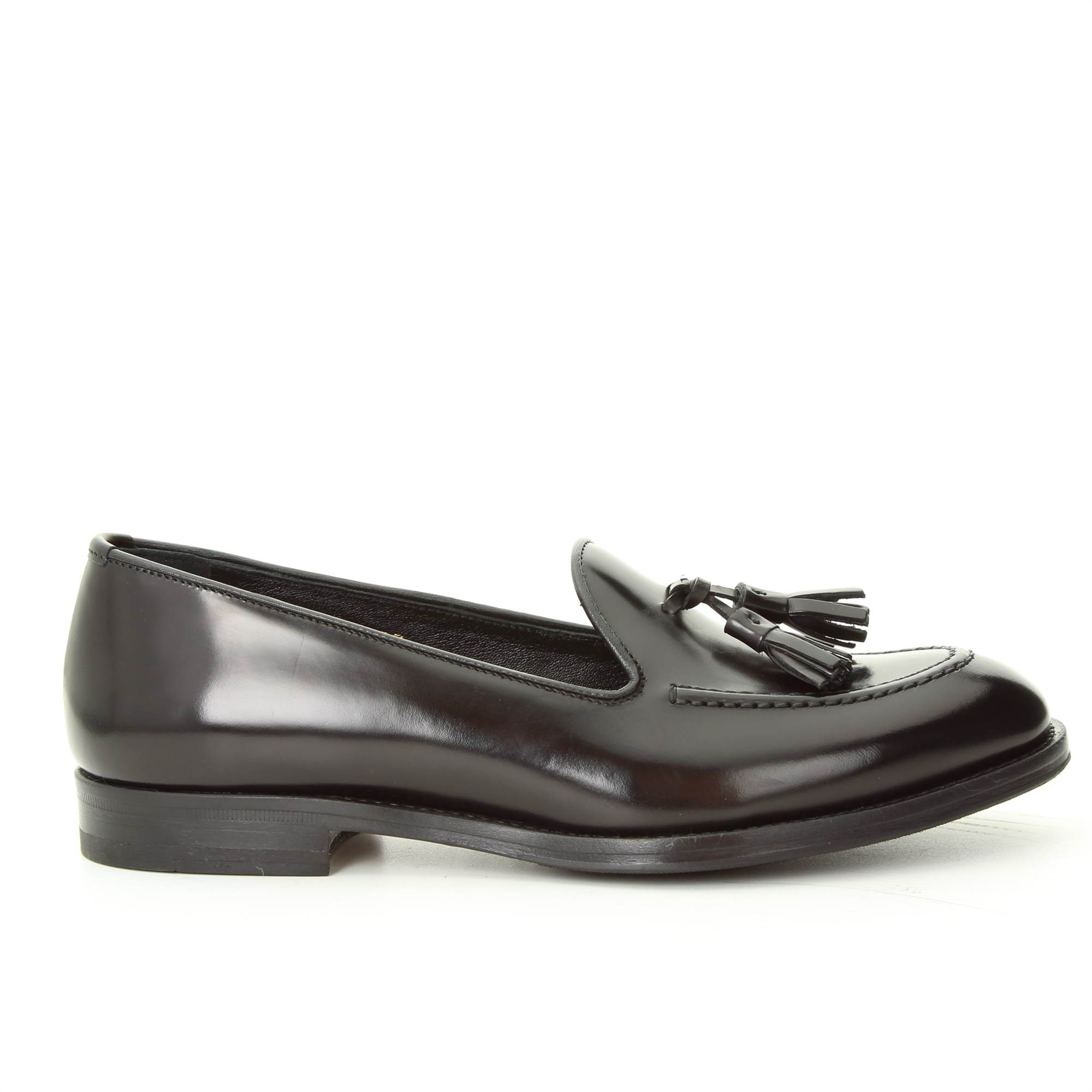 LANCIOTTI DE VERZI 704P NERO Shoes Woman tassel loafer