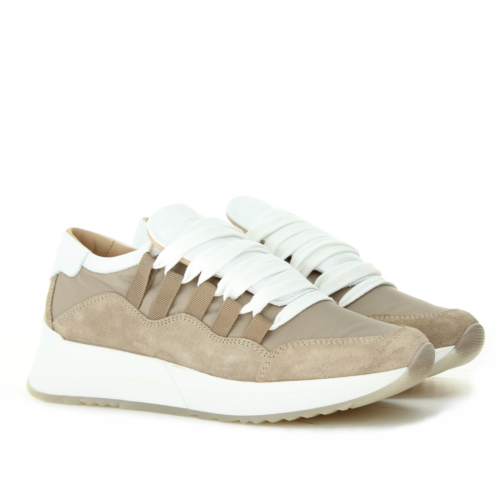 MYM ITALIA WILLY TAUPE BIANCO Shoes Woman