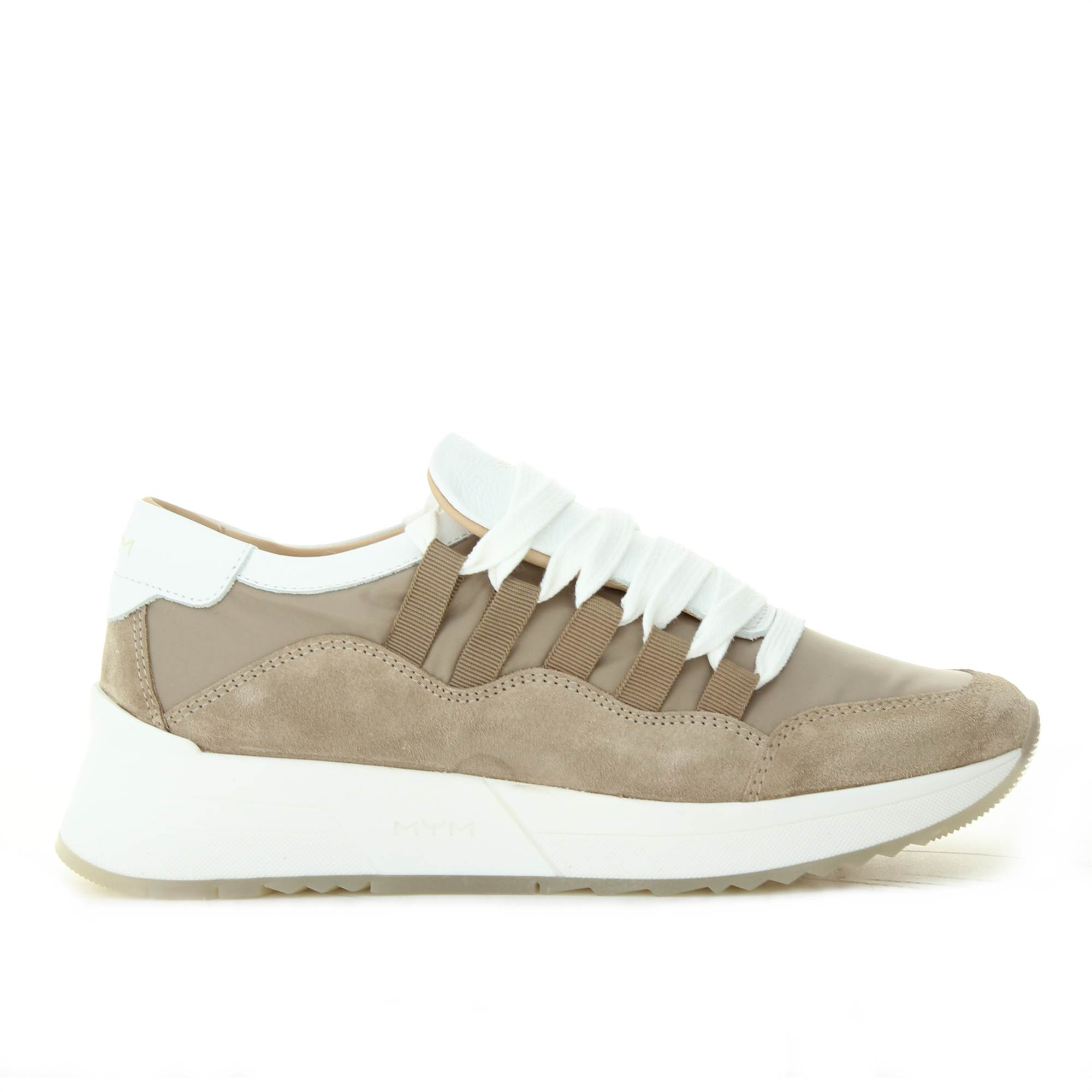 MYM ITALIA WILLY TAUPE BIANCO Shoes Woman MYM ITALIA SNEAKER