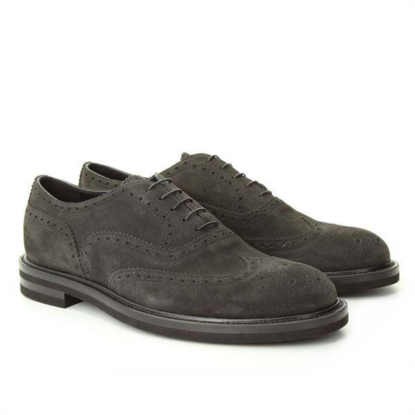 LANCIOTTI DE VERZI LACED UP suede DARK GREY