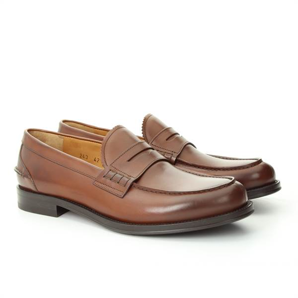 LANCIOTTI DE VERZI MOCCASIN cortina walnut brown