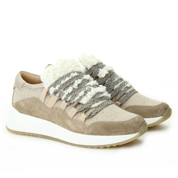 MYM ITALIA MYM ITALIA SNEAKER velour_bosty taupe sand